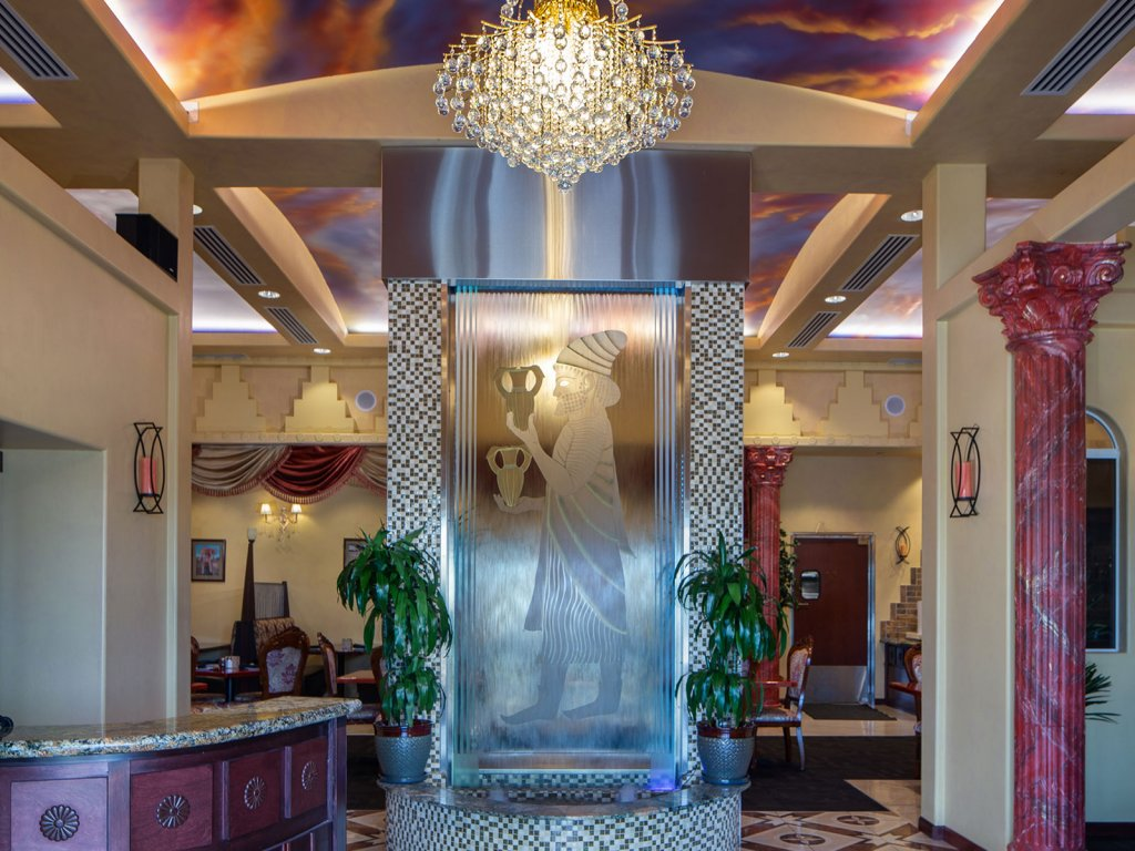 Glass Art by Persian Room Entrance